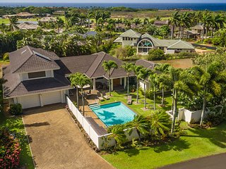 Stunning 4BR, 6 Bath, 3 Master Suites, Air Con and Big Pool, Poipu