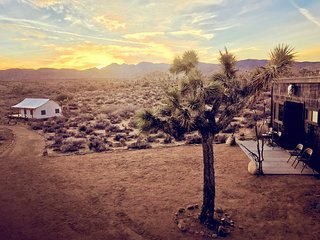Majestic 80 acre off-grid retreat in Pioneertown + a private joshua tree forest