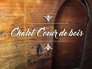 Chalet Cœur de bois face au Mont-Blanc