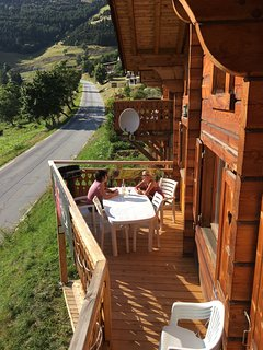 Balcony in Summer:  over-looking the famous 21 Hairpin ascent.
