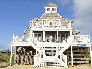 Kitty Hawk Life Saving Station #7- 180 Degree Oceanfront Views-Private Pool