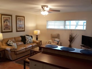 Sofa sleeper, ceiling fan, large T.V. w/ cable & free wifi.