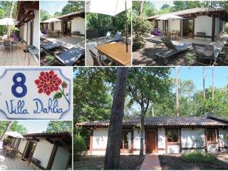Villa de charme sous les pins proche des plages et commerces.