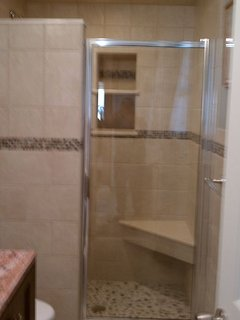 Updated and modern showers and baths