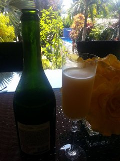 For a nominal fee, Mimosa is available to be served with breakfast