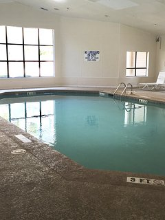 Indoor heated pool and Jacuzzi.  Small exercise room also available for use.
