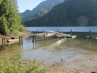 Secluded off-grid Coastal Fjord with beach & endless West Coast Rainforest, Pitt Meadows