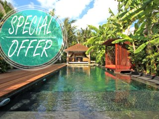 La Banane, luxury 3 Bedroom Villa, with spa, Umalas, 5 mins to Seminyak