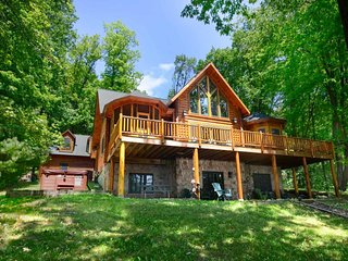 Well-lit, well-loved, and decked out in rustic style, Lake Escape is an immaculate cabin-style temple to the sheer beauty of our mountain flora and fauna., McHenry