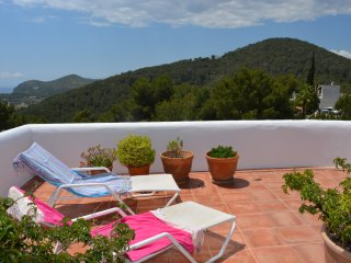 Roof terrace apartment with sea view, Santa Eulalia del Rio