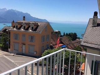 Appartement Design,70m2,Vue Lac,  6 personnes, Montreux