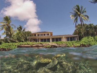 Oceanfront Beach House with Snorkel Lagoon TVRNC#5028