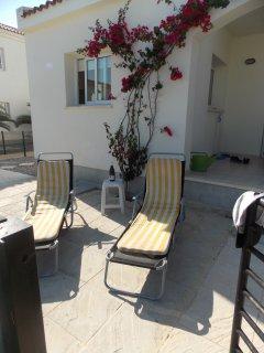 Rear patio area