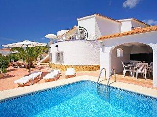 Villa in Calp with Parking, Terrace, Garden, Washing machine (90489)