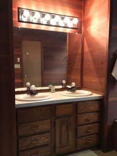 Master bath double vanity.