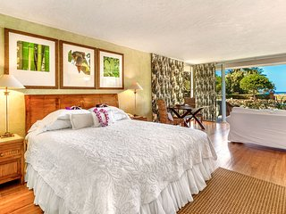 Ocean View Studio; Walk right onto beach; Prime snorkeling & Kaanapali location!