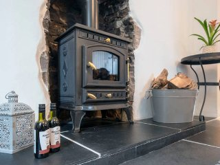cosy woodburner to relax by, after a day in the hills,  perfect