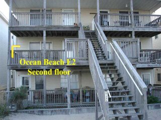 OC Md family condo, 2nd floor view of ocean, sleeps 8, OCEAN BEACH 3 bed/ 2 bath