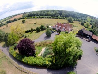 Owls Nest in the black barn is set in 17 acres of countryside, a rural, peaceful retreat.