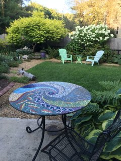 Glass Studio garden.