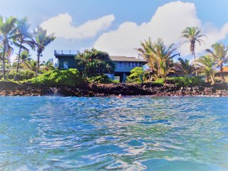 Oceanfront Kapoho Hokulani Kai, Rooftop deck with spa, panoramic views, snorkel!