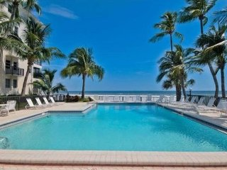 Beachfront Condo- Great Location with Oceanfront Pool and Beautiful Sunsets