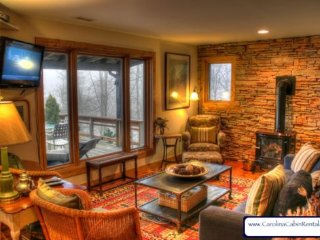 Sleeps 5, Antiques, Art, Gas Wood Stove, Hammock, Grill, 5 minutes to Boone, Blowing Rock