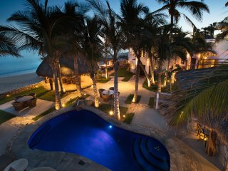 Beachfront Private Villa San Jose del Cabo inc concierge and staff Slps 14 plus