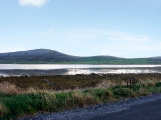 View across Aughinish Bay to Abbey hill from Geehy North