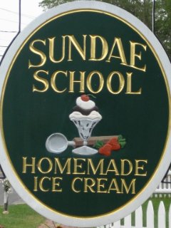 The Sundae School is a short walk from the property.