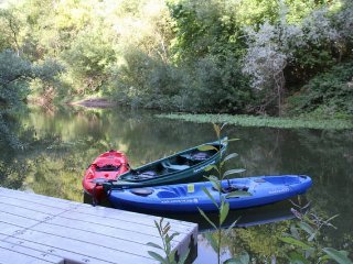 Sunny Riverfront 3 Bdrm w/Hot Tub and Kayaks