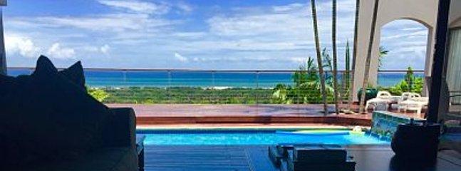 Vista do deck da piscina