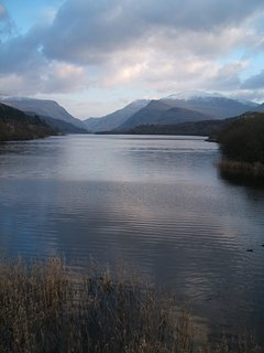 Llyn Padern and Snowdon.