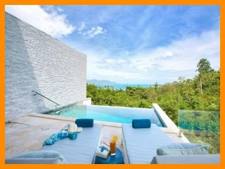 4226 - Contemporary seaview villa with infinity edge pool, Plai Laem