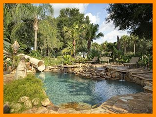 62 Acre Private Island Estate with pool, game room and theater room near Disney
