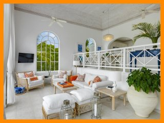 Exceptional villa has been upgraded and offers a terrace with plunge pool, where fairway and Caribbean Sea views can be enjoyed, St. James