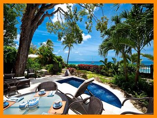 Charming 2 Bedroom Beachfront Apartment, Paynes Bay