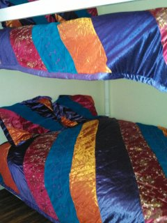 Love the new comforters for our queen bunk room.