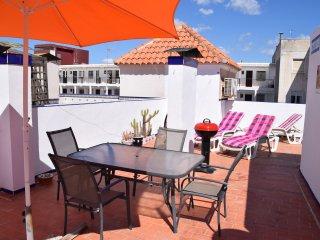 Appartement 2 chambres, grande terrasse, 100m de la mer