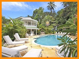 Beautiful 8-bedroom 8.5-bathroom beachfront villa with private pool set in lush