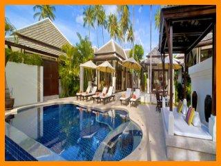 2010 - Great value beachfront villa with private pool, Plai Laem