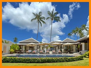 2012 - Great value beachfront villa with private pool, Plai Laem