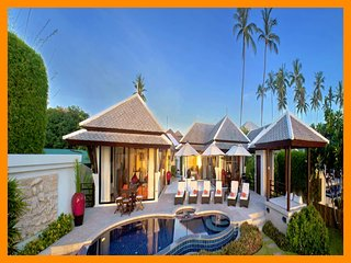 2015 - Great value beach front villa with private pool, Plai Laem