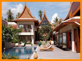 3147 - Beachfront luxury with Thai chef service, Lipa Noi
