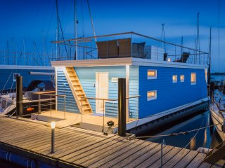Ostsee Hausboot mit Meeresblick Antje Frieda, Burg auf Fehmarn