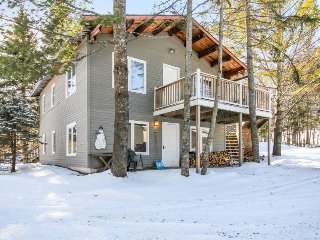 Duplex for two families w/ hot tub, balcony & fireplaces - close to Mount Snow!