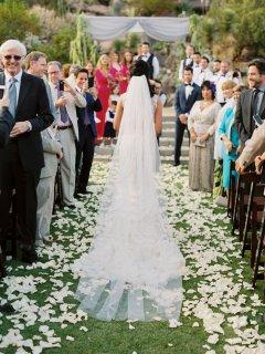 Bride Walking Toward Stage