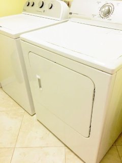 Washer and Dryer in the Condo Utility Room