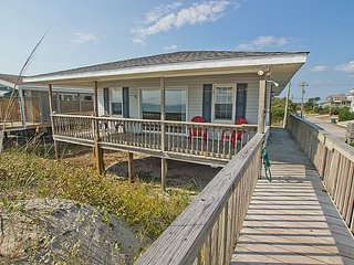 The Choice - Superb Oceanfront View, Traditional Cottage, Simple & Serene, Surf City