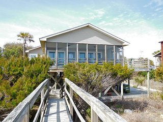 Back Home - Bright and Airy with Oceanside Porch, Folly Beach